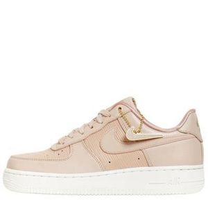 Nike Air Force 1 Sneakers in Light Pink/Beige